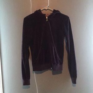 Velvet zip up sweatshirt ( juicy couture)